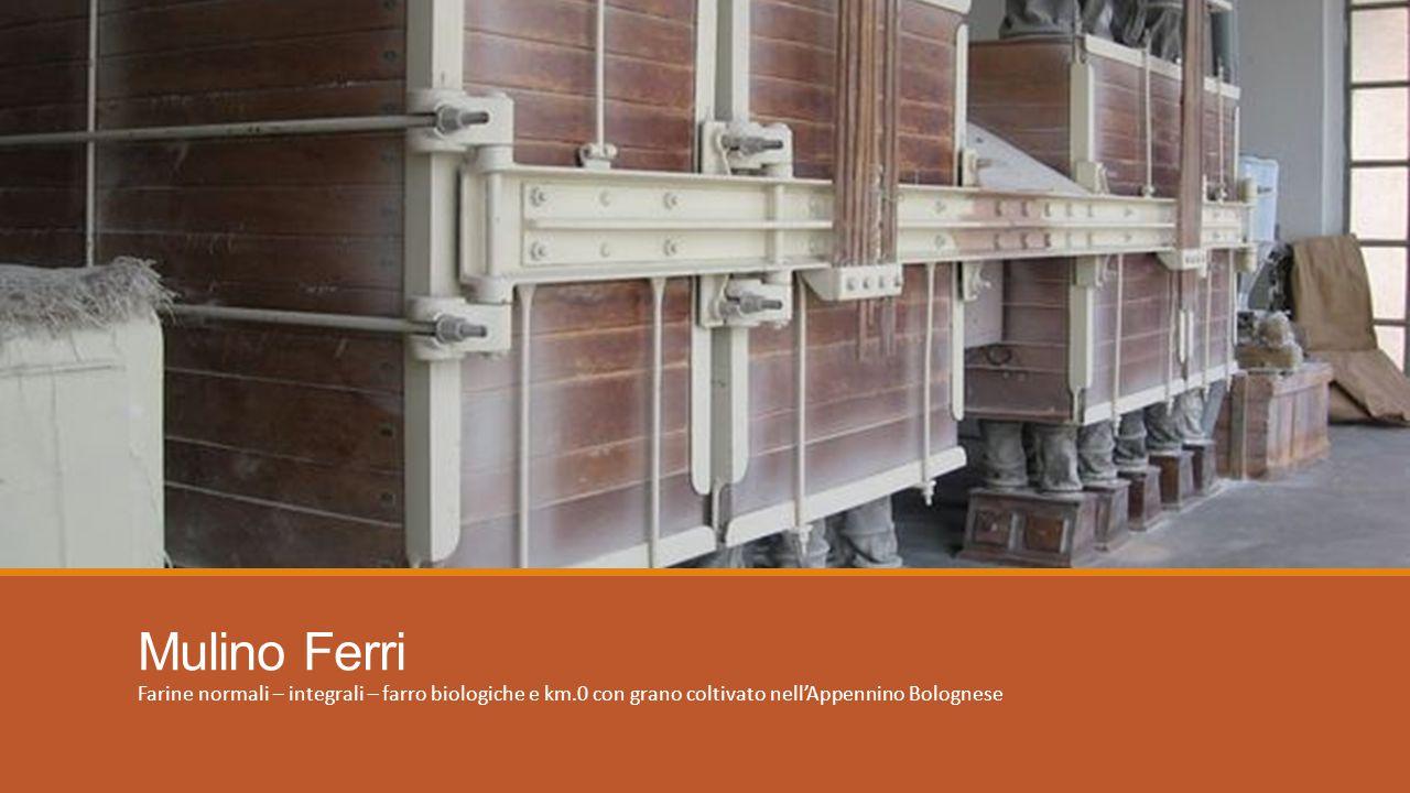 Mulino Ferri Farine normali – integrali – farro biologiche e km.0 con grano coltivato nell'Appennino Bolognese