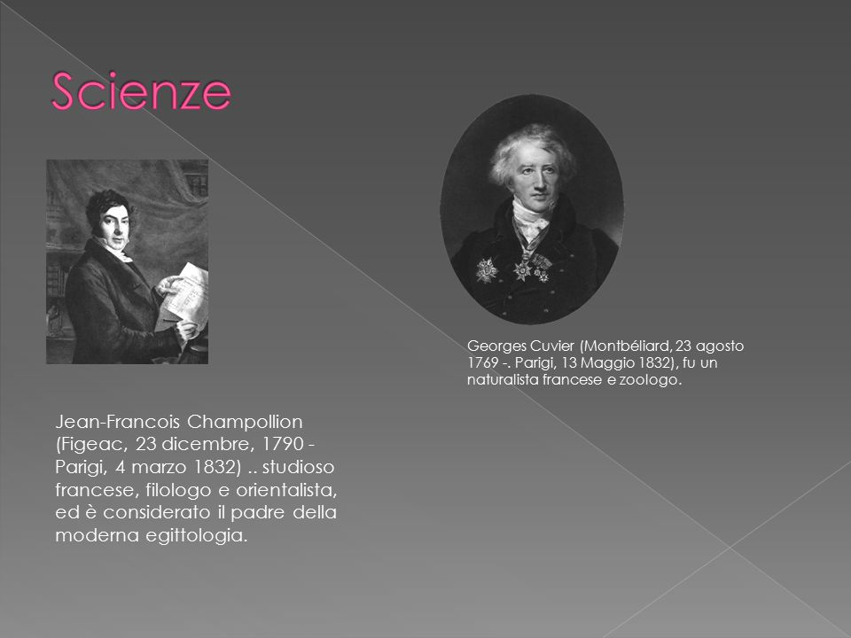 Jean-Francois Champollion (Figeac, 23 dicembre, 1790 - Parigi, 4 marzo 1832).. studioso francese, filologo e orientalista, ed è considerato il padre d