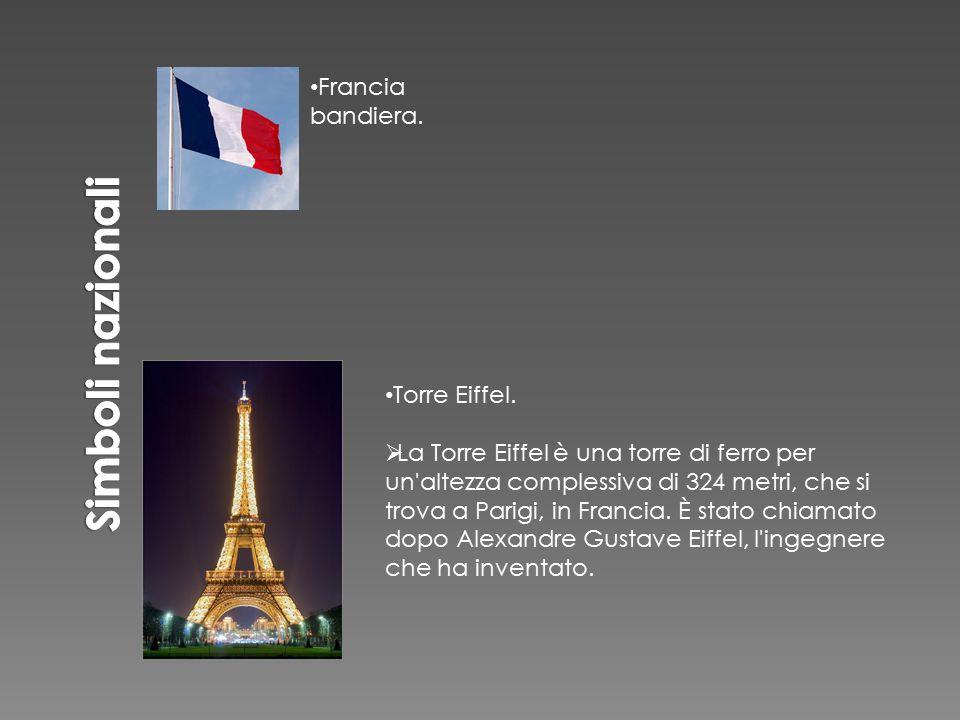 Torre Eiffel.  La Torre Eiffel è una torre di ferro per un'altezza complessiva di 324 metri, che si trova a Parigi, in Francia. È stato chiamato dopo