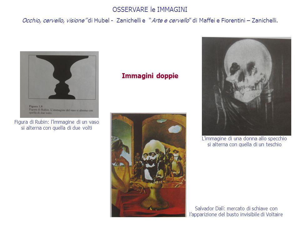 """OSSERVARE le IMMAGINI Occhio, cervello, visione"""" di Hubel - Zanichelli e """"Arte e cervello"""" di Maffei e Fiorentini – Zanichelli. Immagini doppie Figura"""