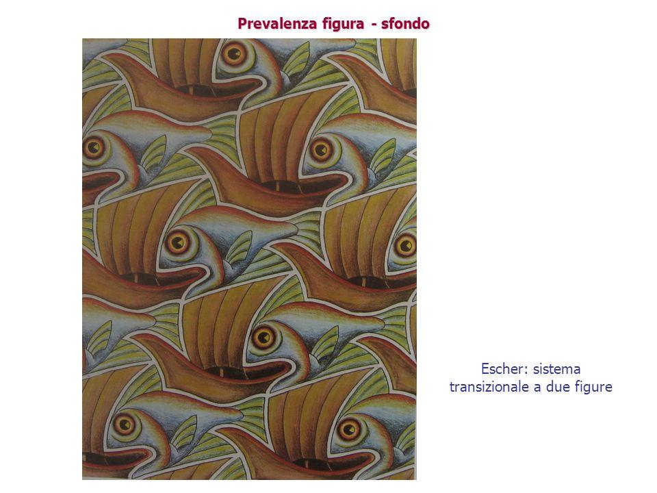 Prevalenza figura - sfondo Escher: sistema transizionale a due figure