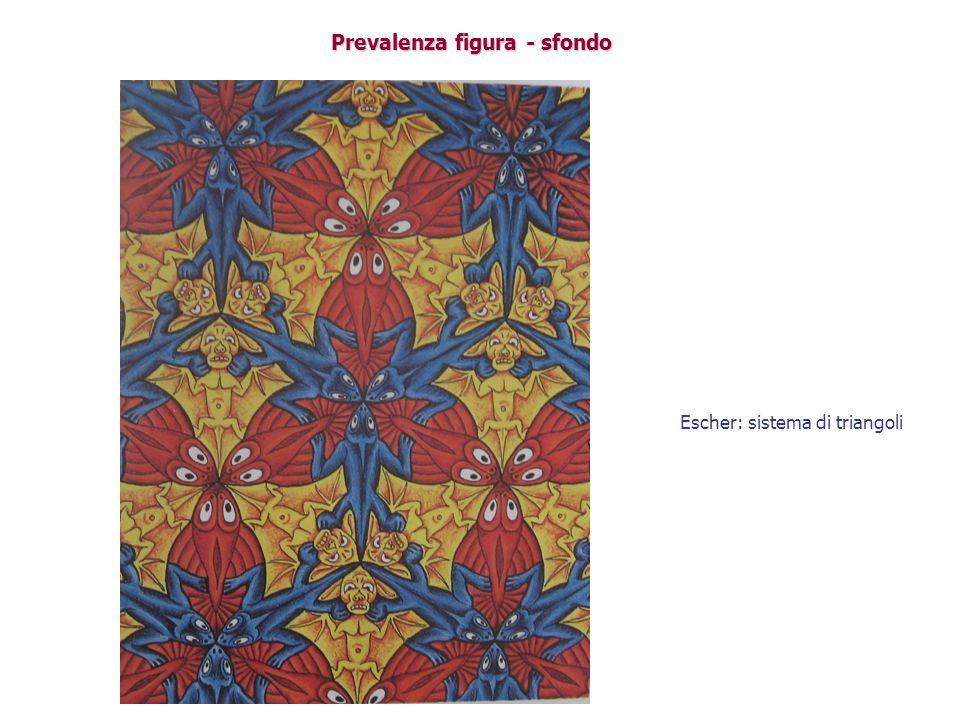 Prevalenza figura - sfondo Escher: sistema di triangoli