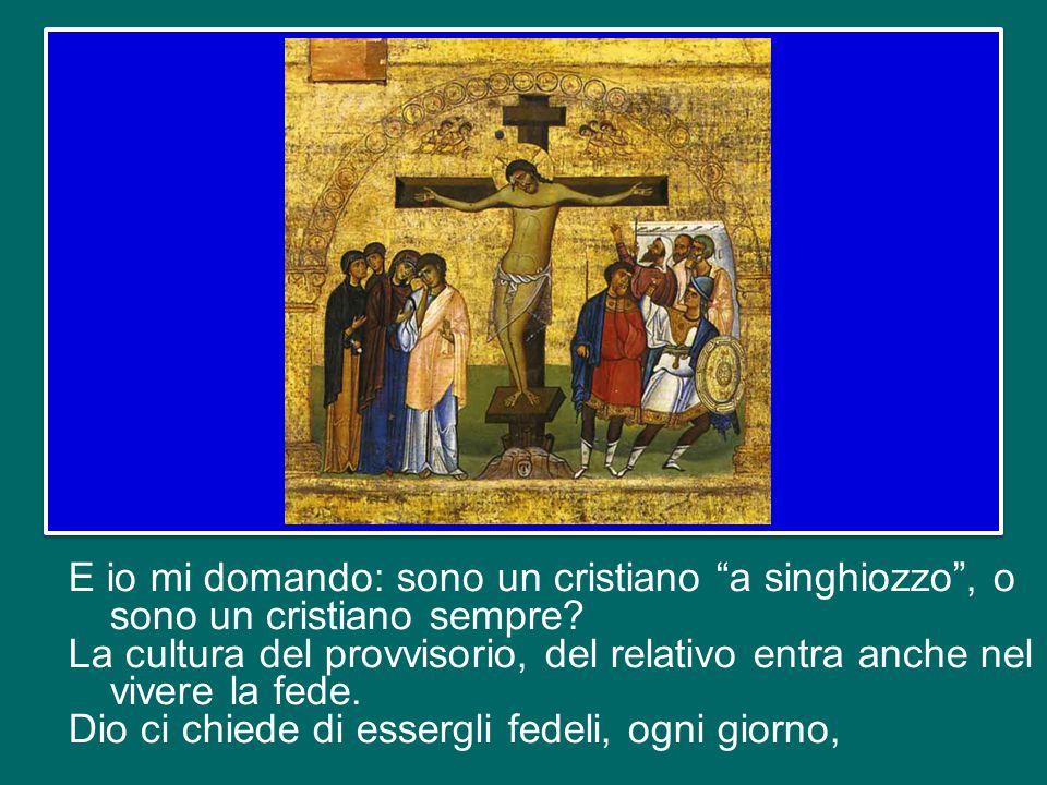 Oggi, qui ci sono tante mamme; pensate fino a che punto è arrivata la fedeltà di Maria a Dio: vedere il suo unico Figlio sulla Croce.