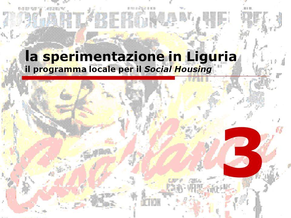 l a sperimentazione in Liguria il programma locale per il Social Housing 3