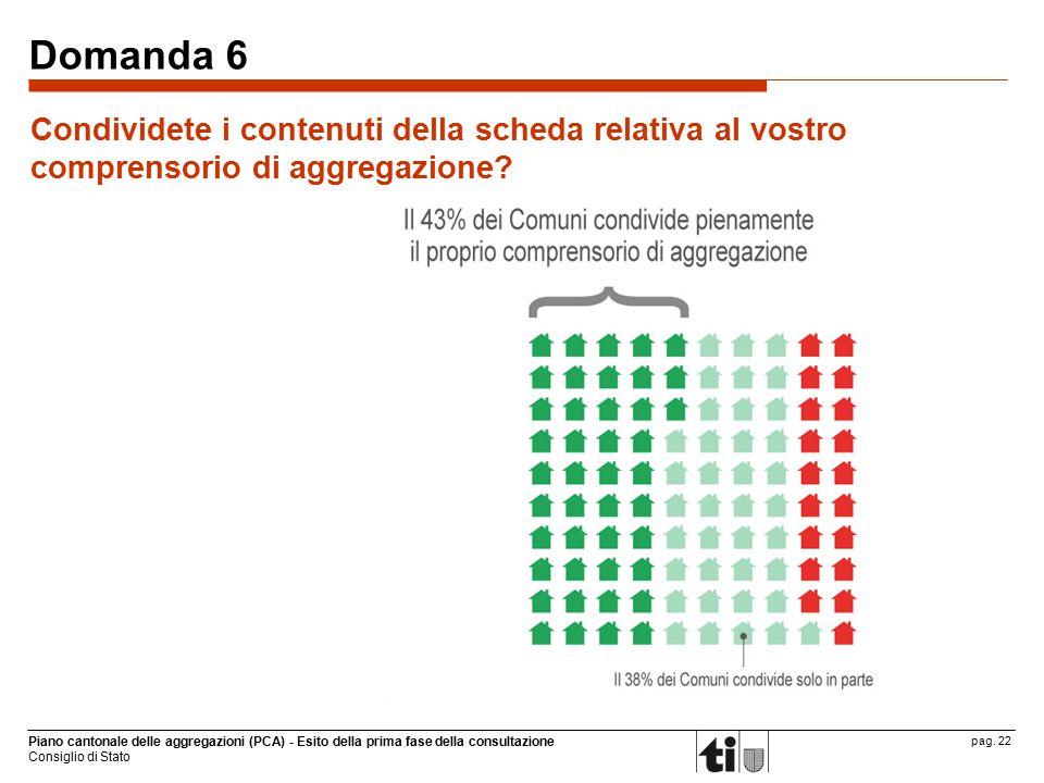 Piano cantonale delle aggregazioni (PCA) - Esito della prima fase della consultazione Consiglio di Stato pag.