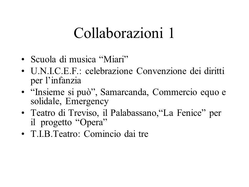 """Collaborazioni 1 Scuola di musica """"Miari"""" U.N.I.C.E.F.: celebrazione Convenzione dei diritti per l'infanzia """"Insieme si può"""", Samarcanda, Commercio eq"""