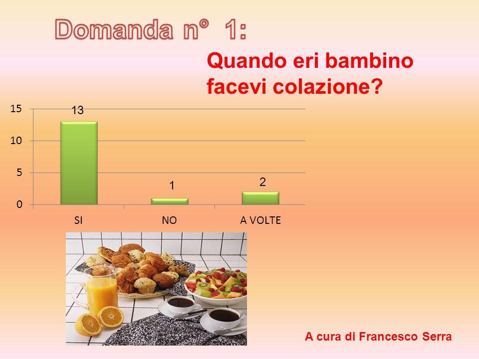 Quando eri bambino facevi colazione 13 1 2 A cura di Francesco Serra