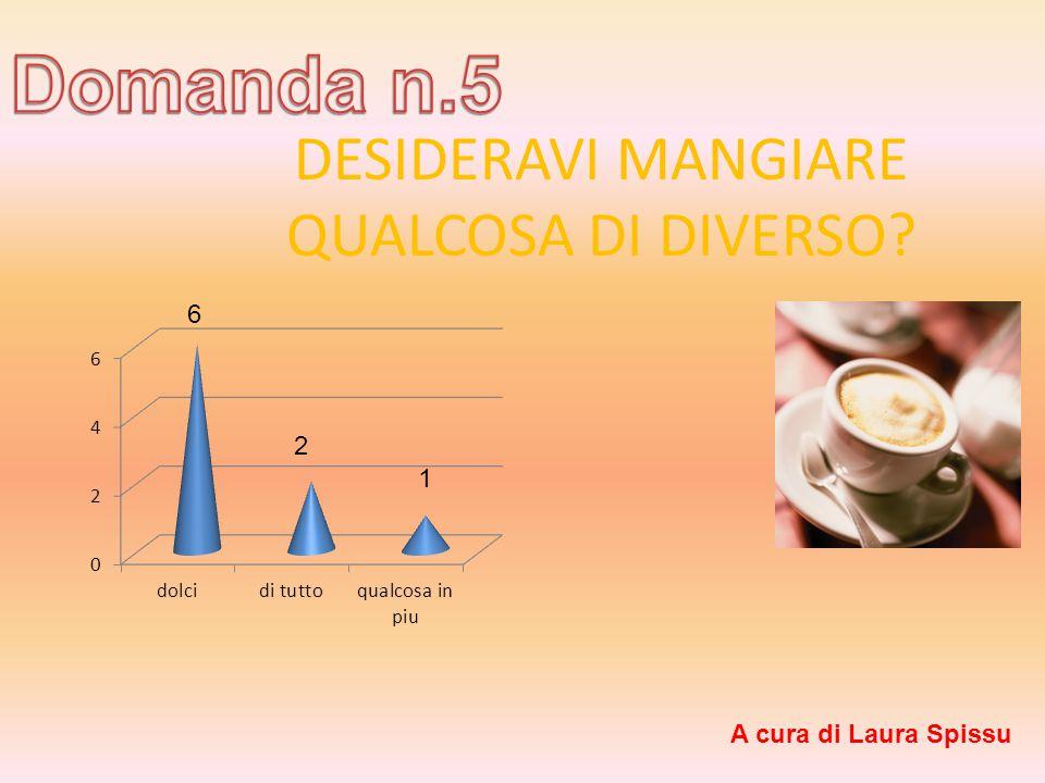 DESIDERAVI MANGIARE QUALCOSA DI DIVERSO 6 2 1 A cura di Laura Spissu