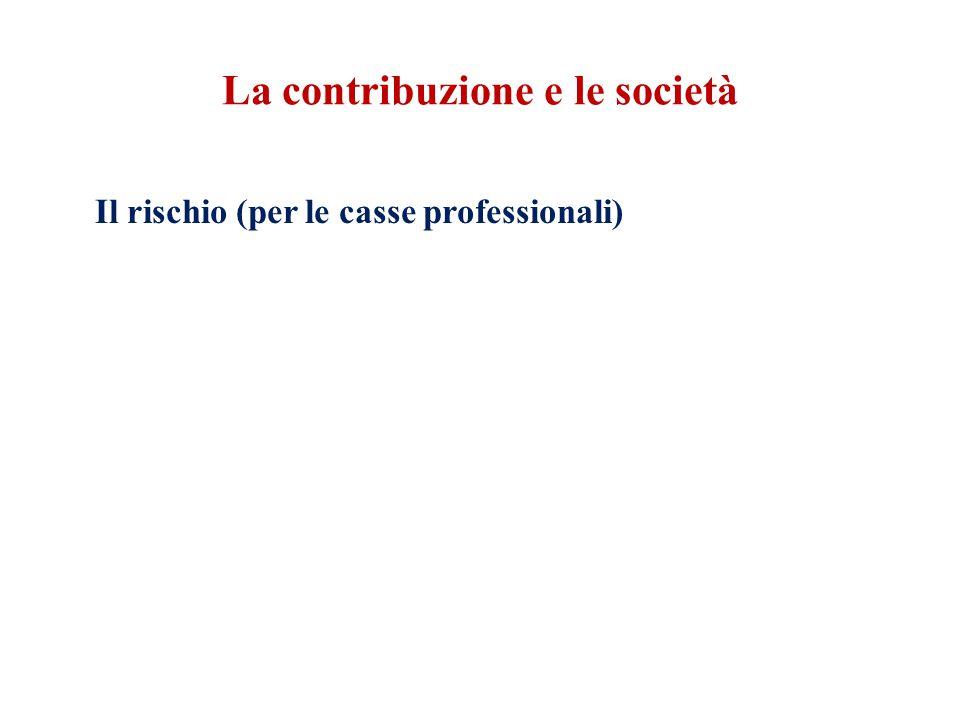 La contribuzione e le società Il rischio (per le casse professionali)