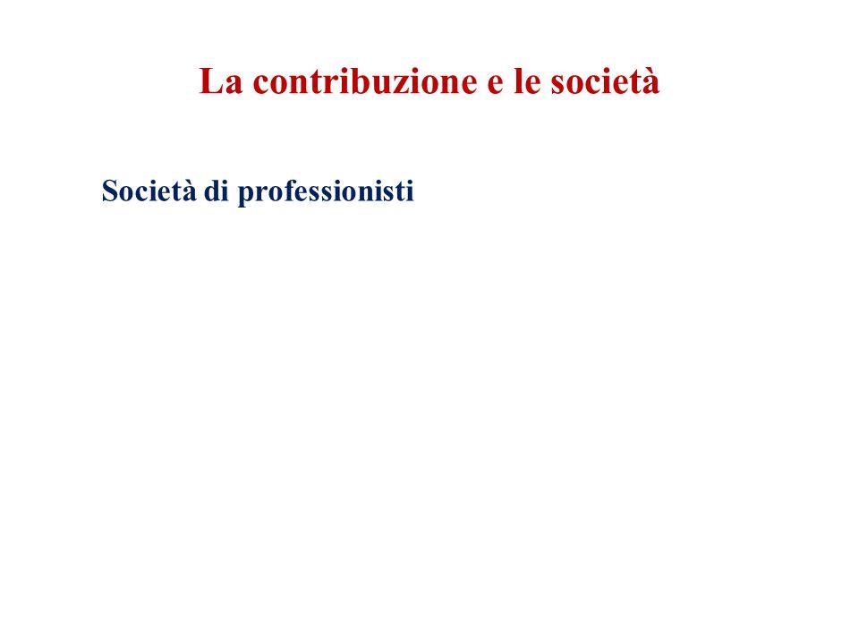 La contribuzione e le società Società di professionisti