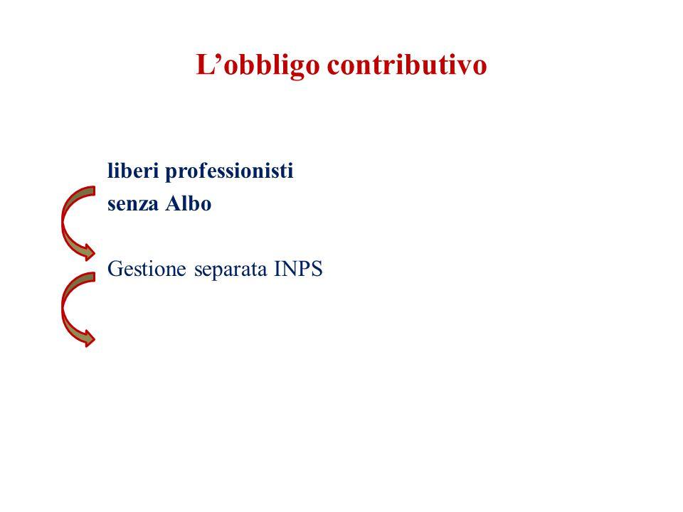 L'obbligo contributivo liberi professionisti senza Albo Gestione separata INPS
