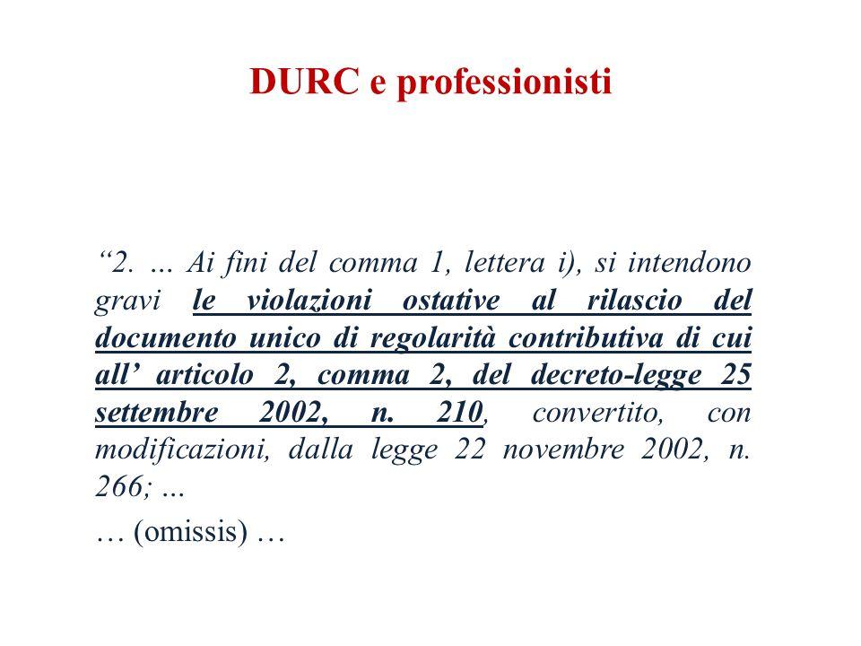DURC e professionisti 2.