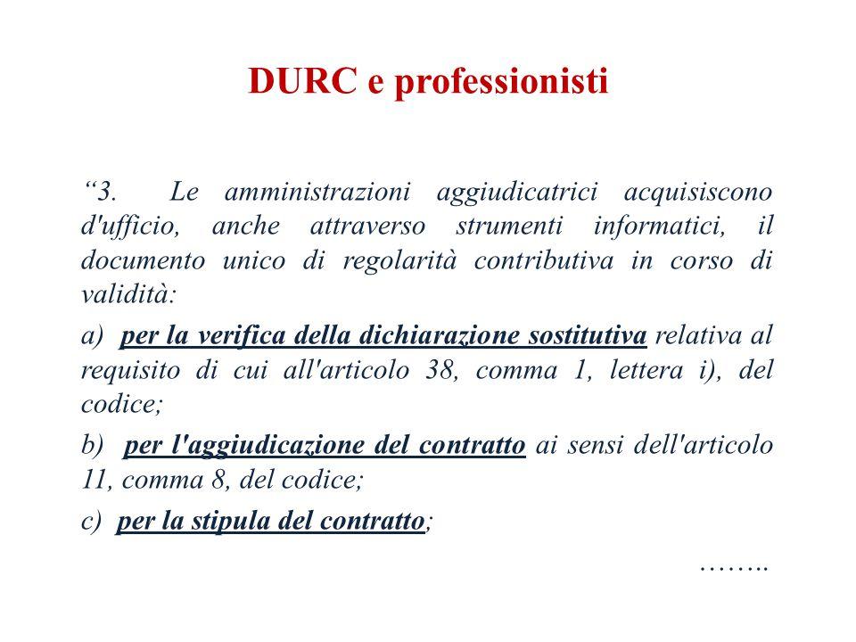 DURC e professionisti 3.