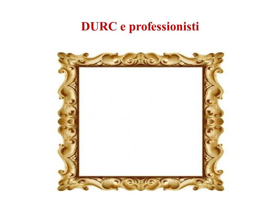 DURC e professionisti