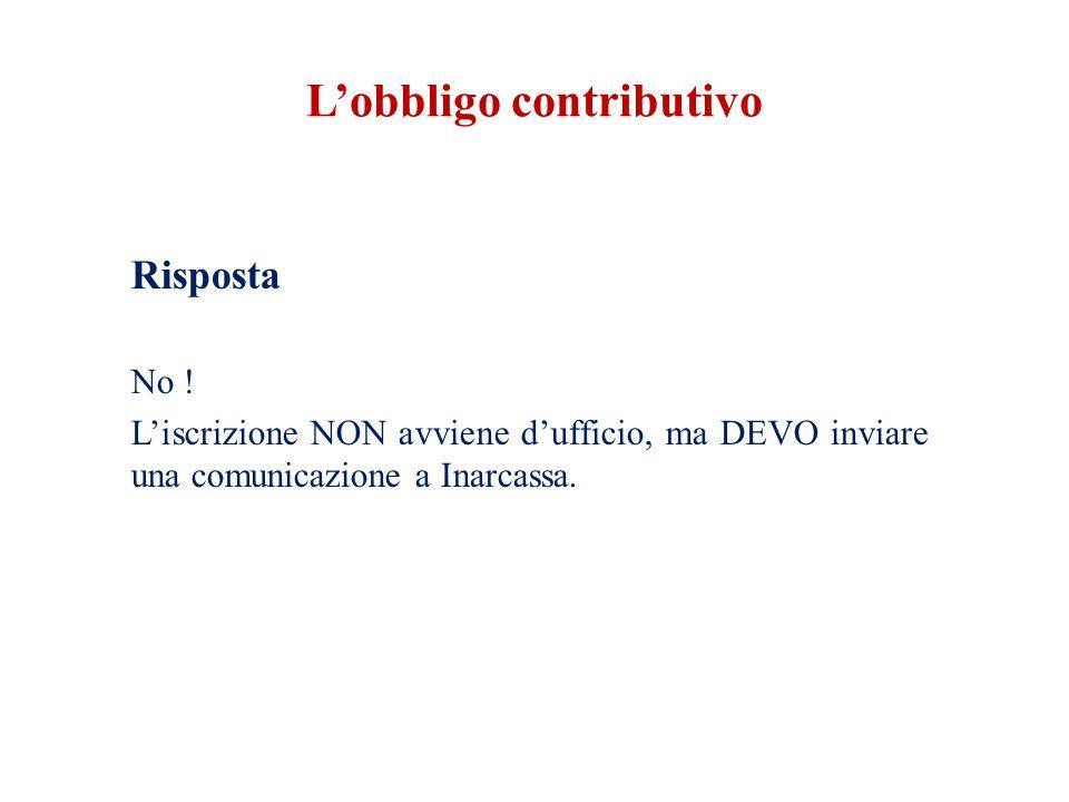 L'obbligo contributivo Art.44 comma 2 D.l.