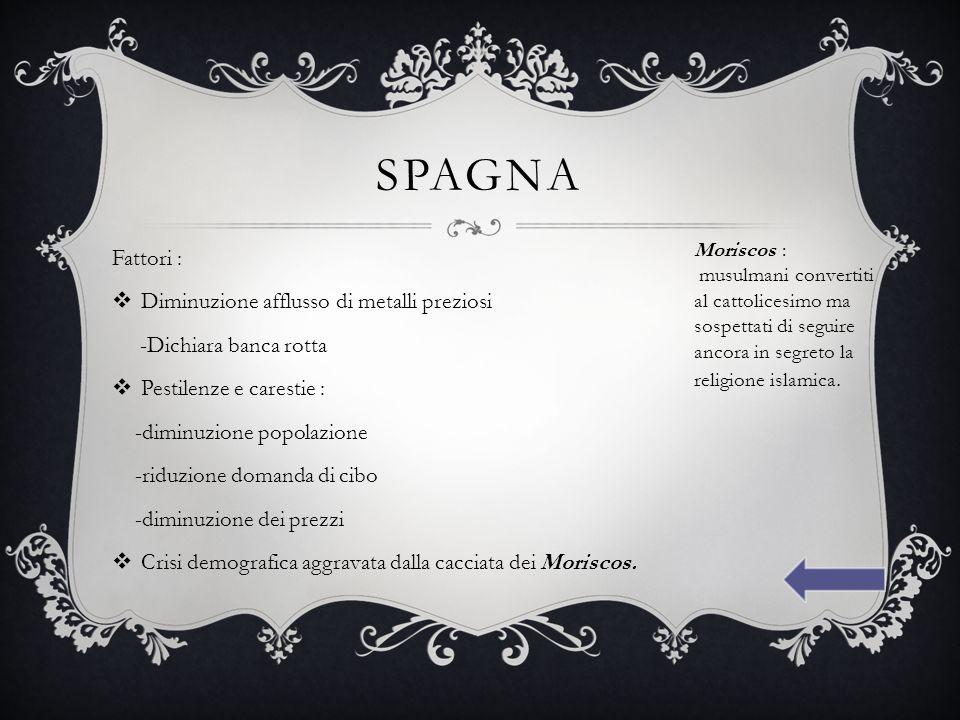 ITALIA All'inizio del 600 nell' Italia si abbatterono carestie e pestilenze e la popolazione calò.