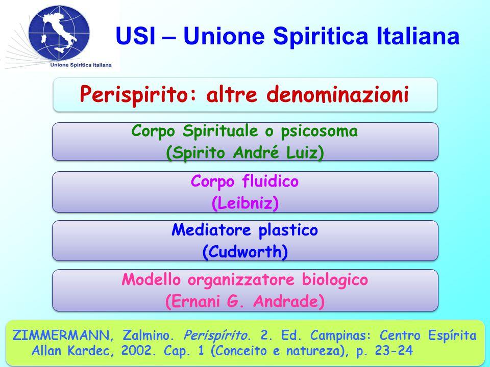 USI – Unione Spiritica Italiana ZIMMERMANN, Zalmino. Perispírito. 2. Ed. Campinas: Centro Espírita Allan Kardec, 2002. Cap. 1 (Conceito e natureza), p