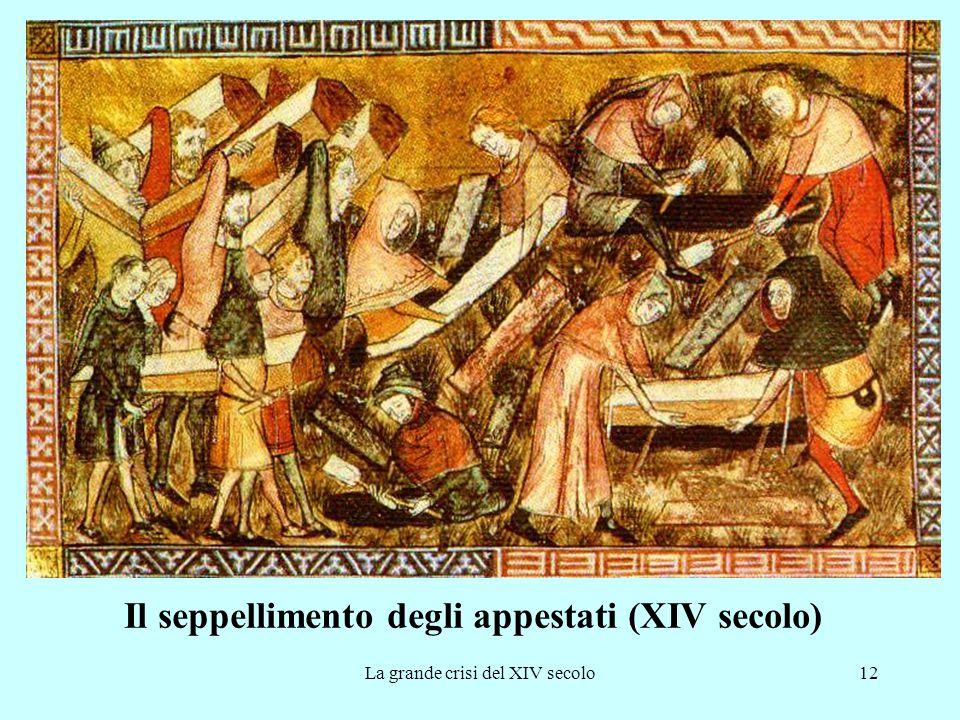 La grande crisi del XIV secolo12 Il seppellimento degli appestati (XIV secolo)