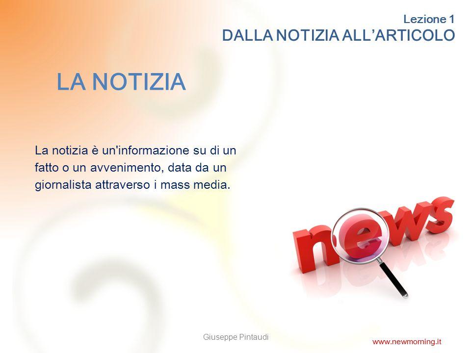 13 GRAZIE PER L'ATTENZIONE! Giuseppe Pintaudi www.newmorning.it