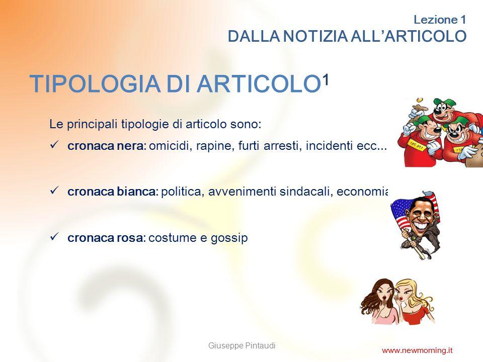 7 TIPOLOGIA DI ARTICOLO 2 Altre tipologie: cronaca giudiziaria: processi, indagini ecc...