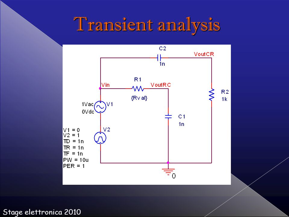 Stage elettronica 2010 Transient analysis