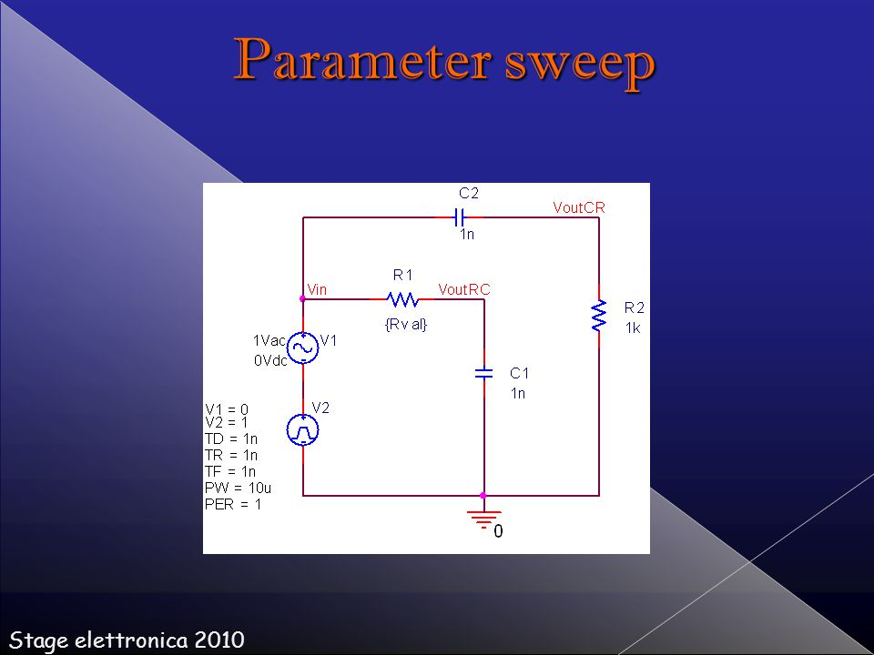 Stage elettronica 2010 Parameter sweep