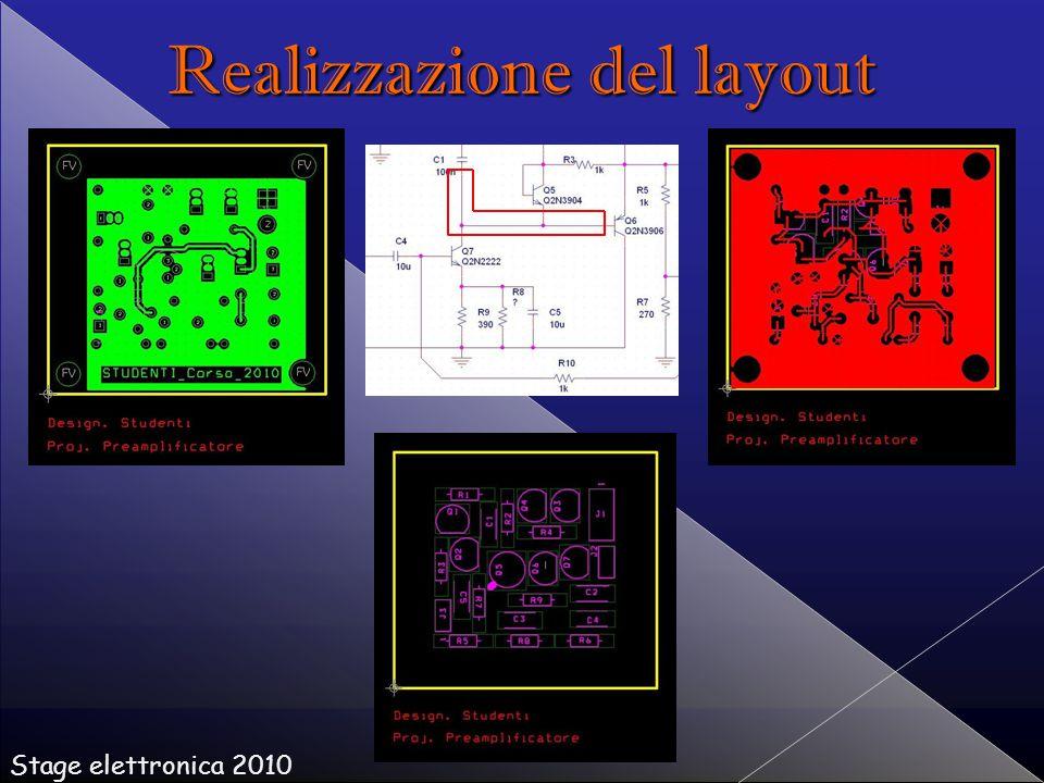 Realizzazione del layout