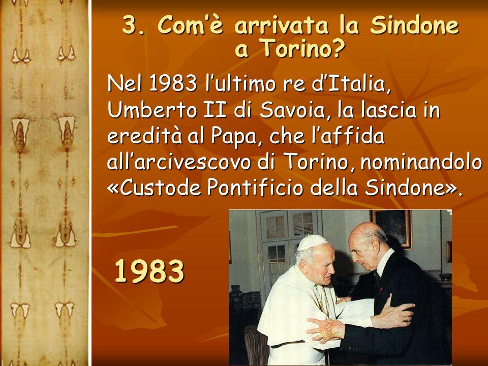 Nel 1983 l'ultimo re d'Italia, Umberto II di Savoia, la lascia in eredità al Papa, che l'affida all'arcivescovo di Torino, nominandolo «Custode Pontif