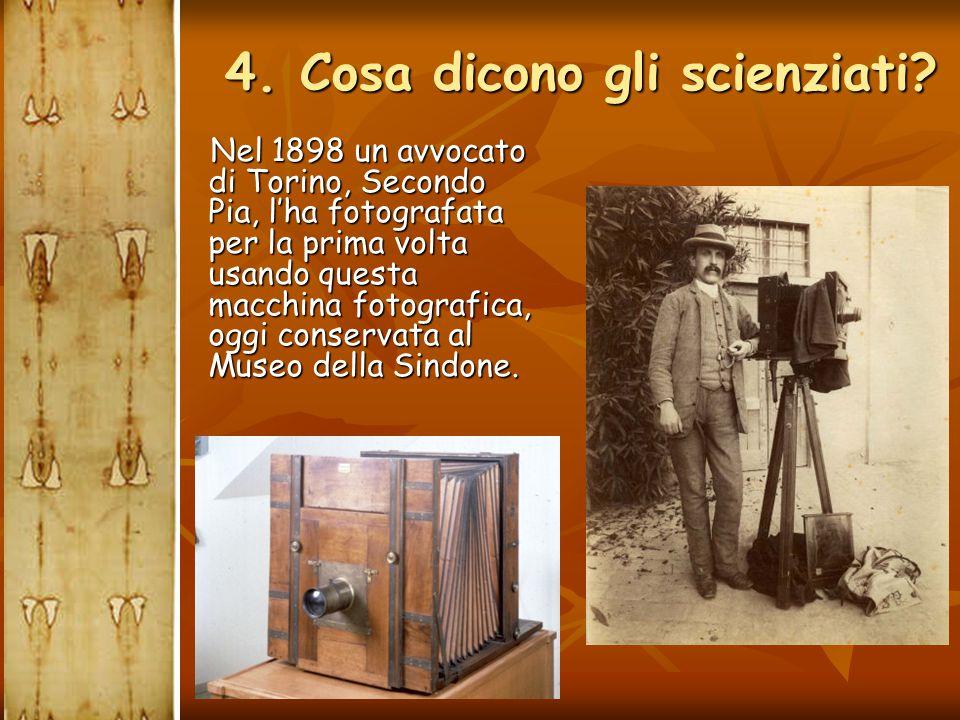Nel 1898 un avvocato di Torino, Secondo Pia, l'ha fotografata per la prima volta usando questa macchina fotografica, oggi conservata al Museo della Si