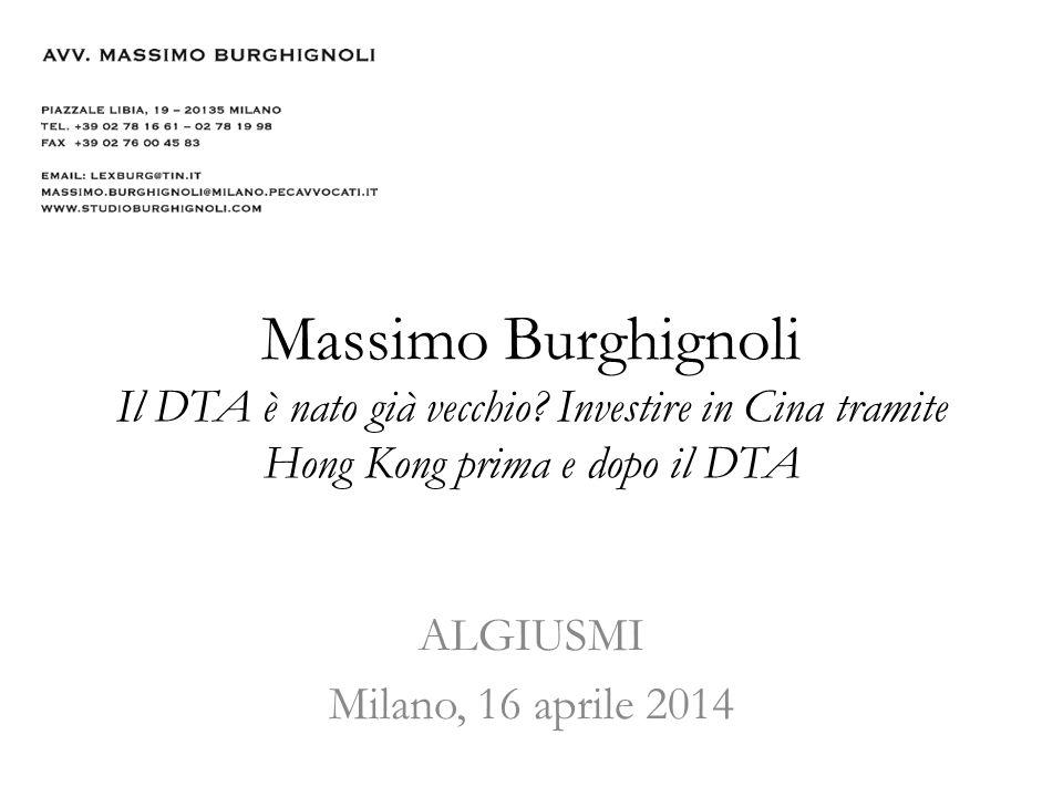 Massimo Burghignoli Il DTA è nato già vecchio.