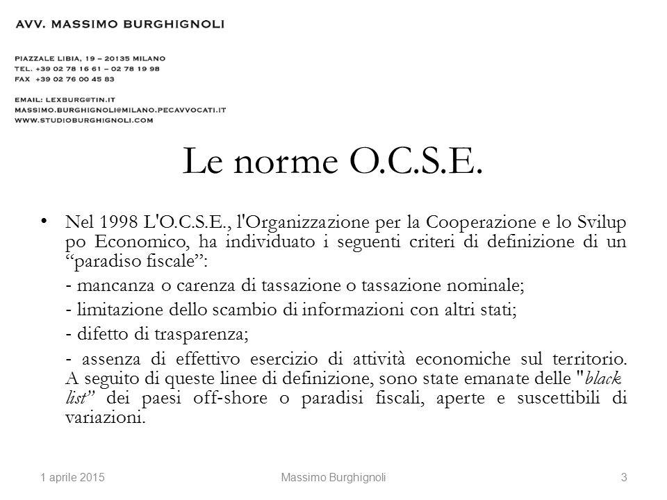 Le norme O.C.S.E.