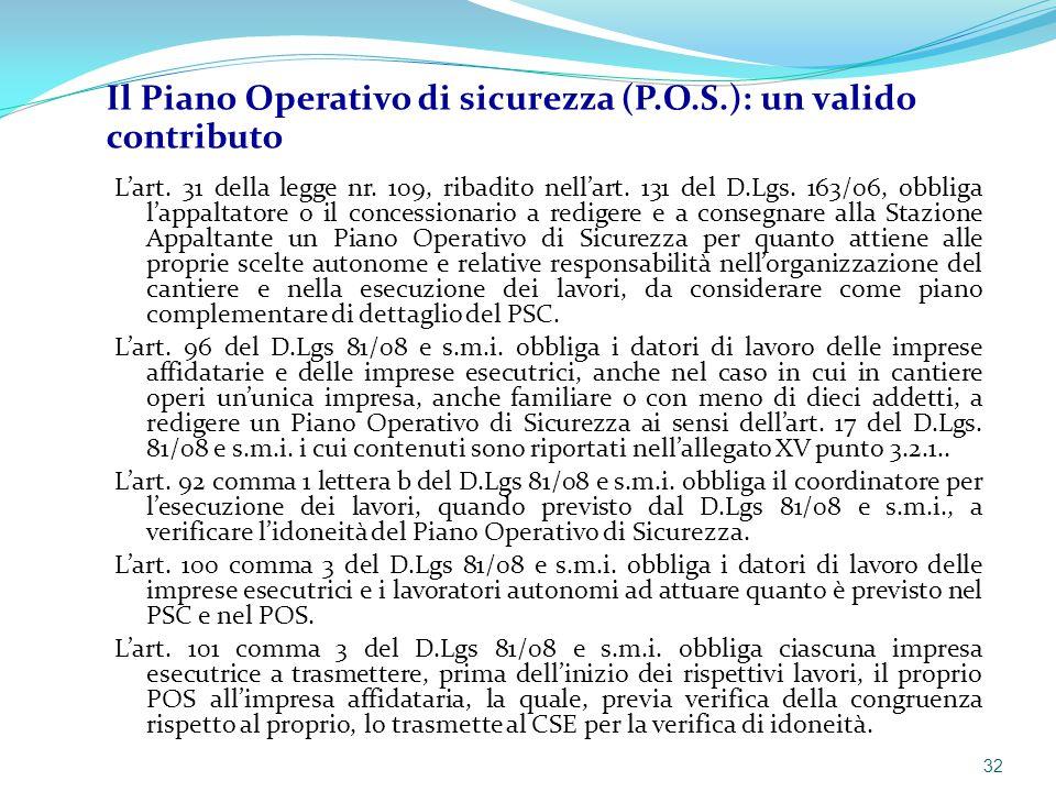 L'art. 31 della legge nr. 109, ribadito nell'art. 131 del D.Lgs. 163/06, obbliga l'appaltatore o il concessionario a redigere e a consegnare alla Staz