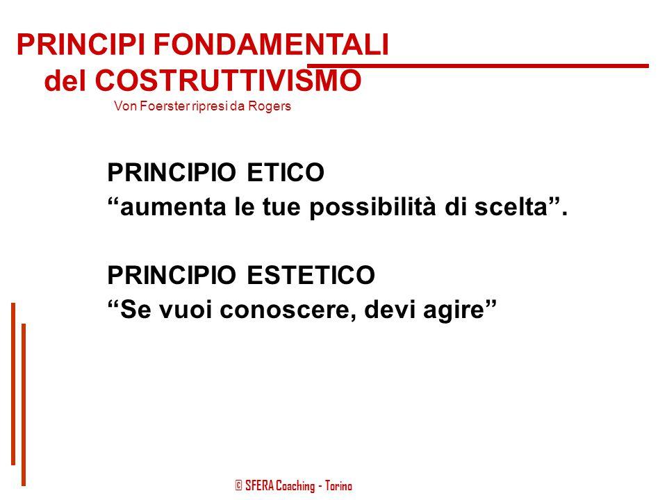 © SFERA Coaching - Torino Le strategie che applica l'health-coach poggiano le basi necessariamente sui principi fondamentali che regolano il cambiamen
