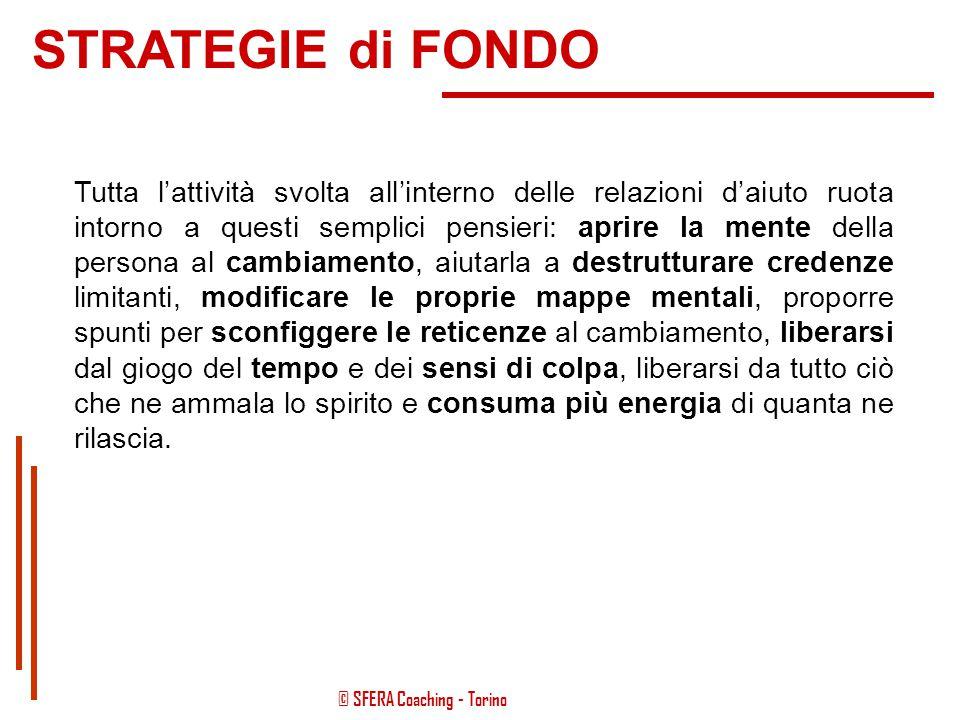 © SFERA Coaching - Torino Il cambiamento in un'ottica costruttivista Nel processo di cambiamento, quando la persona non è fortemente motivata, può per