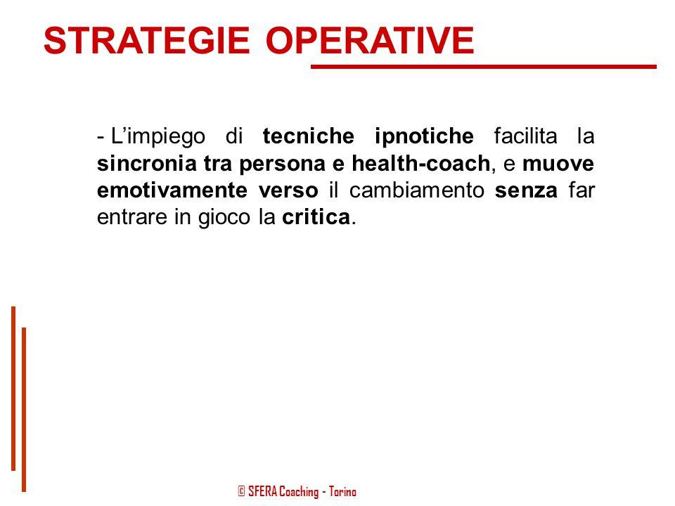 © SFERA Coaching - Torino STRATEGIE OPERATIVE - I protocolli per la Definizione dell'obiettivo principale e degli obiettivi correlati possono mettere