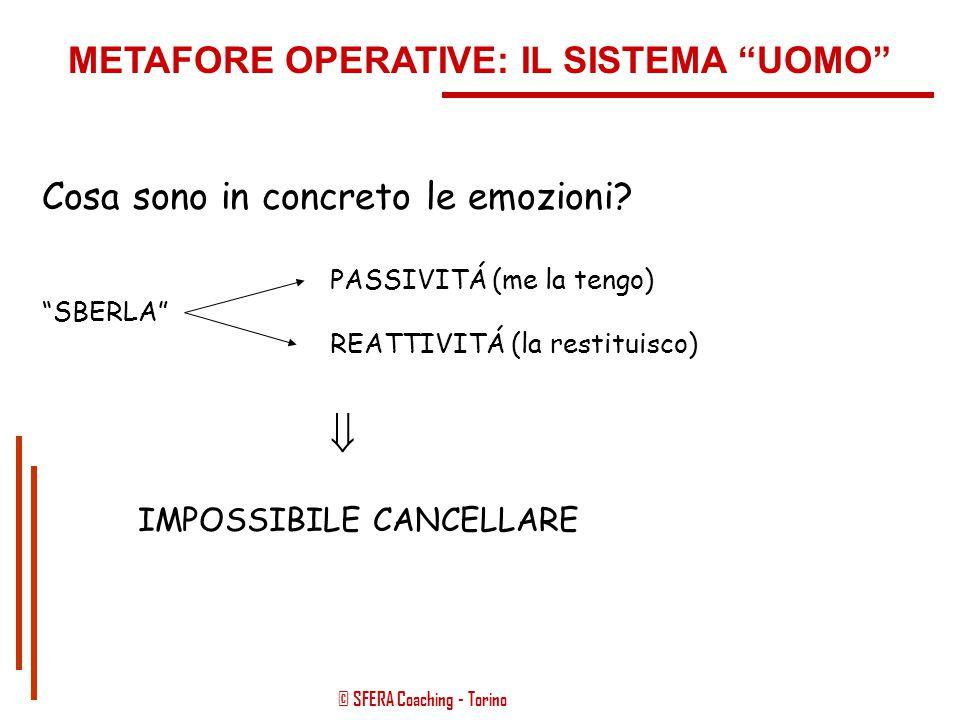 """© SFERA Coaching - Torino METODICA OPERATIVA: IL SISTEMA """"UOMO"""" EVENTO STRESSANTE  TRAUMA  RISPOSTA EMOZIONALE"""
