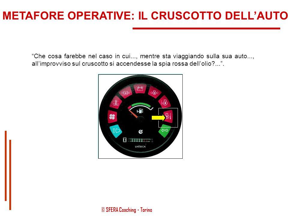 """© SFERA Coaching - Torino """"Oppure, è più facile, vedendo un'autovettura nel suo complesso..., individuare quale parte viene comunemente definita """"mani"""