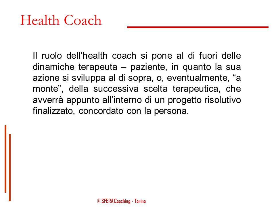 © SFERA Coaching - Torino Health Coach Coadiuva la persona nel rendersi consapevole sul proprio percorso di malessere e sulle eventuali cause scatenan