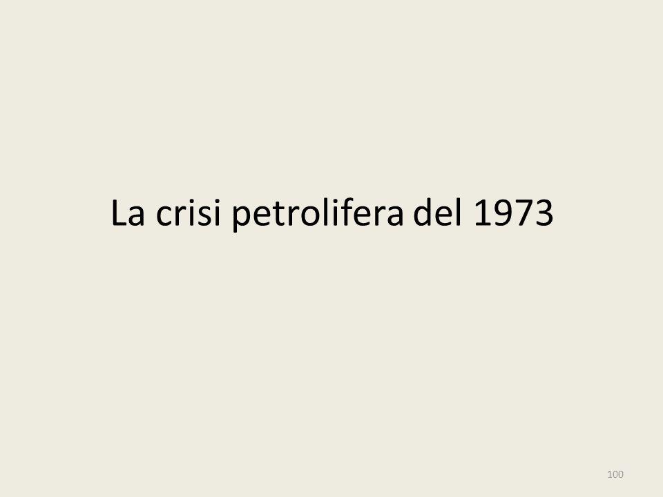 La crisi petrolifera del 1973 100