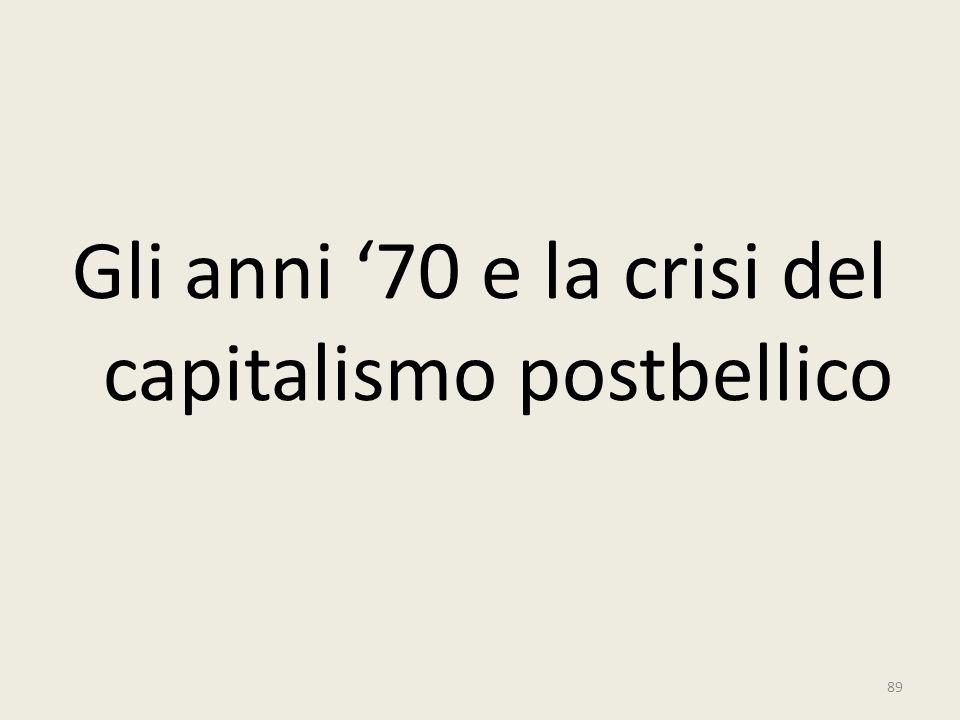 Gli anni '70 e la crisi del capitalismo postbellico 89