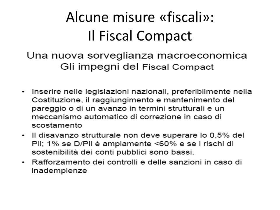 Alcune misure «fiscali»: Il Fiscal Compact