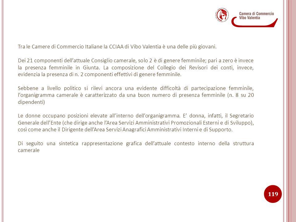 Tra le Camere di Commercio Italiane la CCIAA di Vibo Valentia è una delle più giovani. Dei 21 componenti dell'attuale Consiglio camerale, solo 2 è di