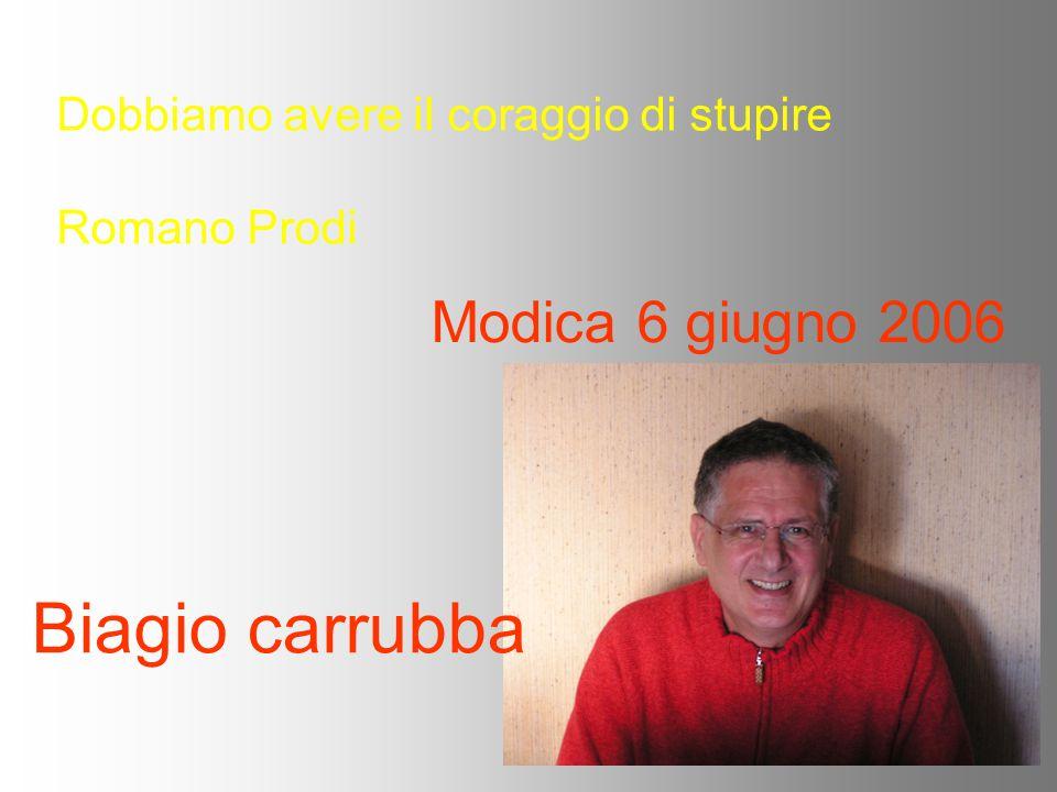 Modica 6 giugno 2006 Biagio carrubba Dobbiamo avere il coraggio di stupire Romano Prodi