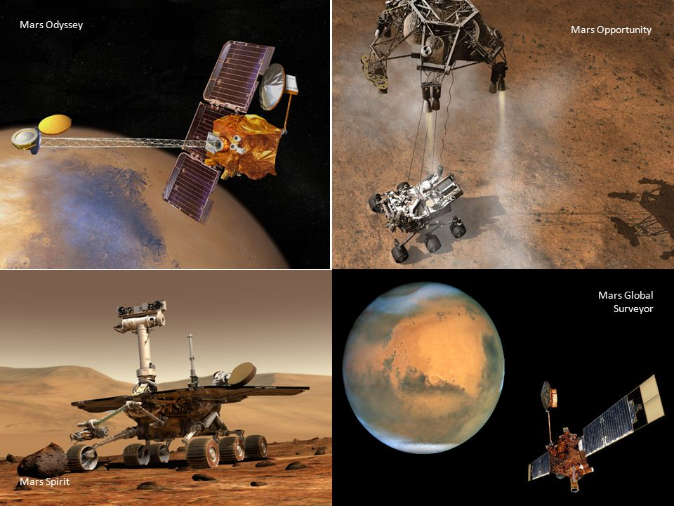 Mars Odyssey Mars Global Surveyor Mars Spirit Mars Opportunity