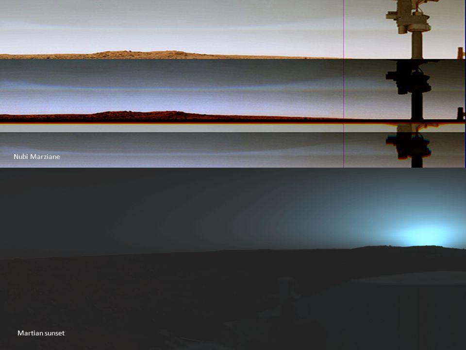 Martian sunset Nubi Marziane