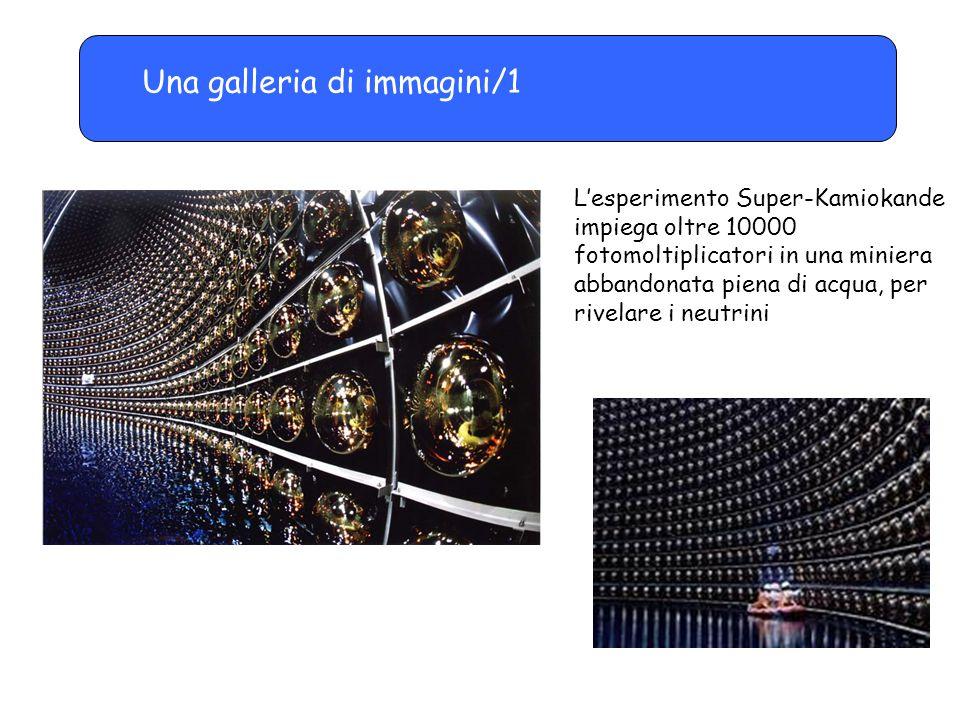 Una galleria di immagini/1 L'esperimento Super-Kamiokande impiega oltre 10000 fotomoltiplicatori in una miniera abbandonata piena di acqua, per rivela