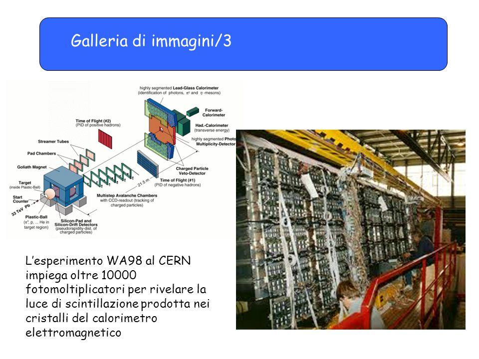 Galleria di immagini/3 L'esperimento WA98 al CERN impiega oltre 10000 fotomoltiplicatori per rivelare la luce di scintillazione prodotta nei cristalli