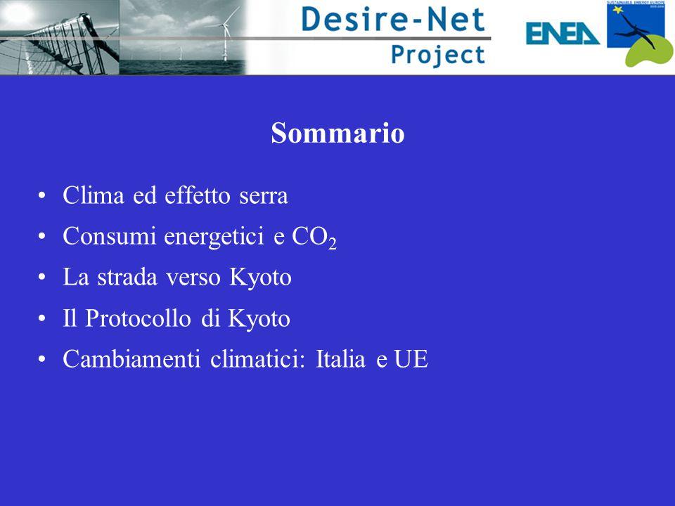 Riduzione per i Paesi Industrializzati delle emissioni complessive dei gas ad effetto serra del 5% rispetto al 1990 entro il periodo 2008-2012.