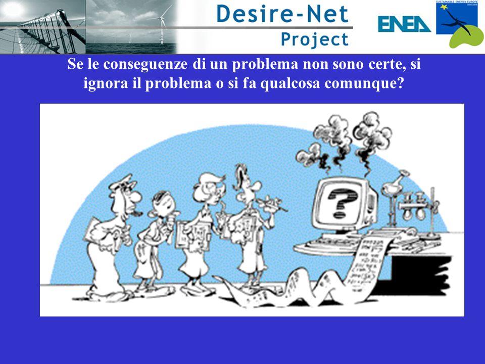Se le conseguenze di un problema non sono certe, si ignora il problema o si fa qualcosa comunque?
