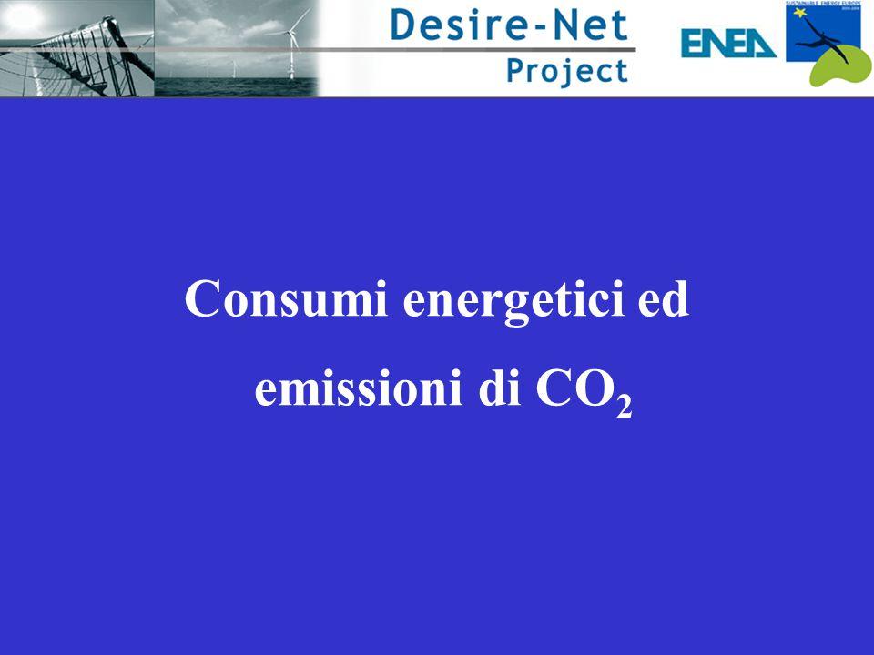 Consumi energetici ed emissioni di CO 2